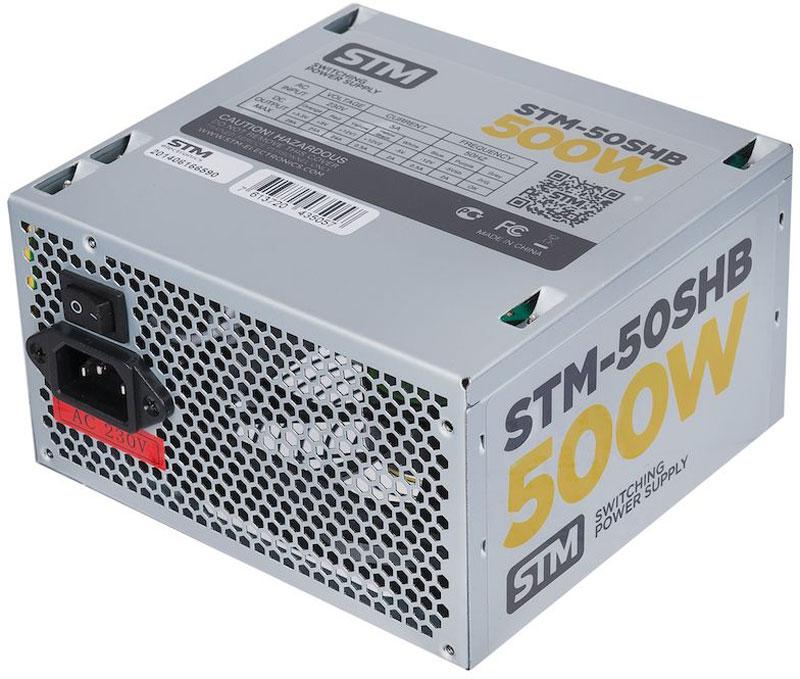 STM 50SHB блок питания для игрового компьютера1000205627Блок питания STM 50SHB обеспечит бесперебойную работу вашего компьютера. Он изготовлен с применением высококачественных материалов. Высокая производительность делает этот источник питания отличным выбором при сборке ПК.Выполненный из прочного металла, блок питания STM 50SHB оснащен мощным вентилятором для охлаждения. Его диаметр составляет 120 мм. Данный вентилятор обеспечивает превосходное охлаждения блока питания и отличается фактически полным отсутствием шума во время своей работы.