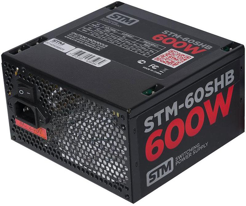 STM 60SHB блок питания для игрового компьютера1000205629Блок питания STM 60SHB обеспечит бесперебойную работу вашего компьютера. Он изготовлен с применением высококачественных материалов. Высокая производительность делает этот источник питания отличным выбором при сборке ПК.Выполненный из прочного металла, блок питания STM 60SHB оснащен мощным вентилятором для охлаждения. Его диаметр составляет 120 мм. Данный вентилятор обеспечивает превосходное охлаждения блока питания и отличается фактически полным отсутствием шума во время своей работы.