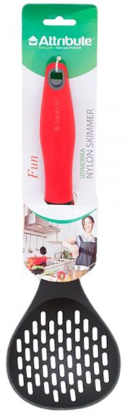 Шумовка Attribute Fun. ATV811ATV811Шумовка Attribute Fun выполнена из пищевого нейлона, который выдерживает температуру до 200°C. Оснащена удобной ручкой из пластика. Кухонный аксессуар предназначен для приготовления бульонов, ей удобно снимать пенку, вынимать сваренные кусочки мяса или овощей, перемешивать суп. Изделие подходит для всех видов посуды, а также для посуды с антипригарным покрытием, так как не повреждает ее поверхность. Ручка снабжена специальным отверстием для подвешивания.Шумовка Attribute Fun займет достойное место среди аксессуаров на вашей кухне. Можно мыть в посудомоечной машине.