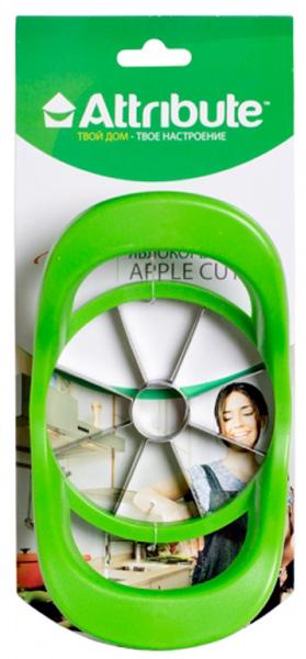 """Яблокорезка Attribute """"Viva Green"""" идеально подойдет для приготовления фруктовой нарезки за  считанные секунды. Лезвия, изготовленные из нержавеющей стали, разделяют фрукты на  ровные, одинаковые кусочки с уже вырезанной сердцевиной. Эргономичные ручки, выполненные  из высококачественного пластика, обеспечат  легкий и удобный захват. Яблокорезка Attribute станет прекрасным дополнением к коллекции ваших кухонных аксессуаров."""