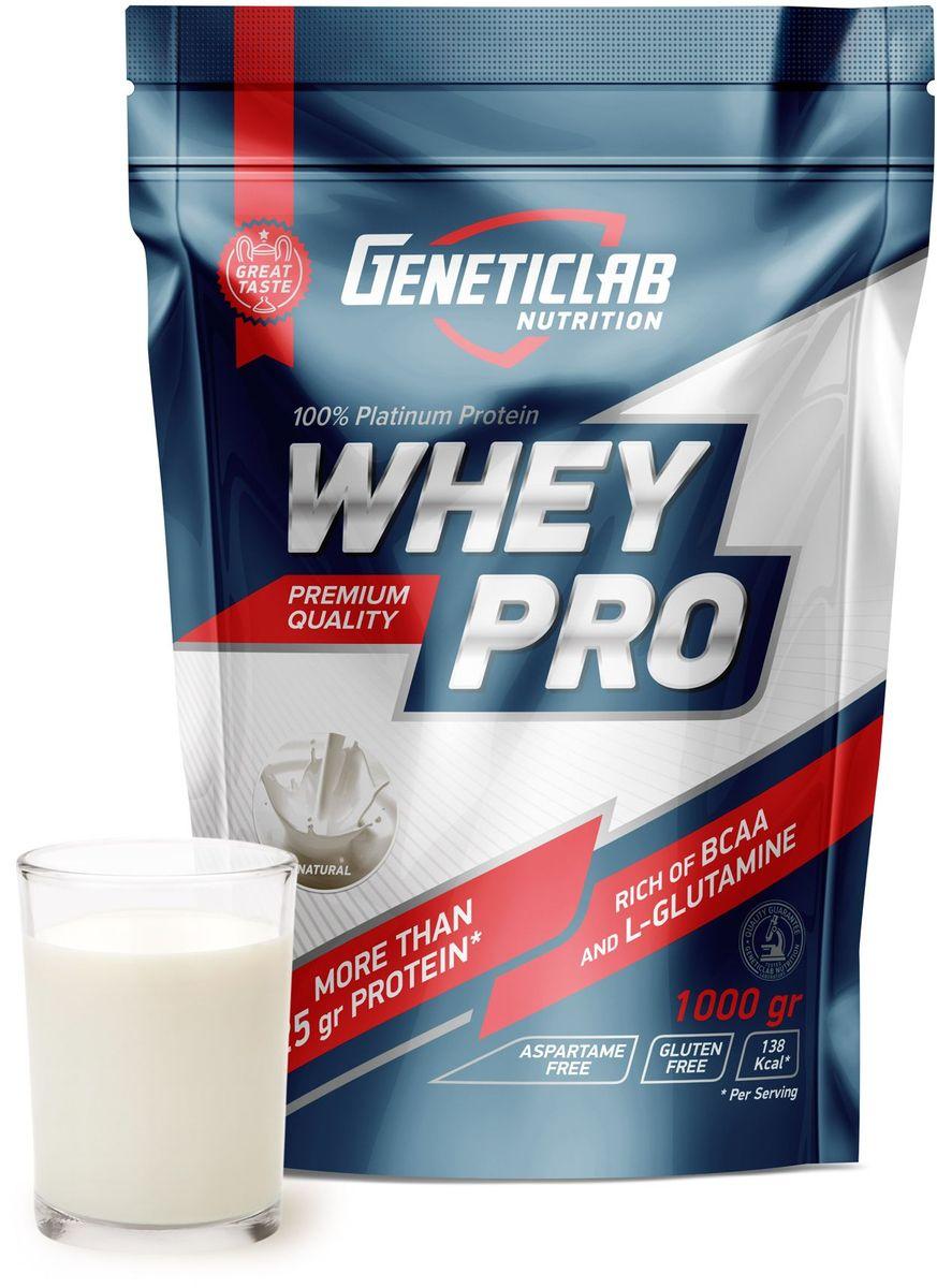 Протеин сывороточный Geneticlab Whey Pro, без вкуса, 1 кг сывороточный протеин bbb whey classic шоколад 70% белка и bcaa 1 кг