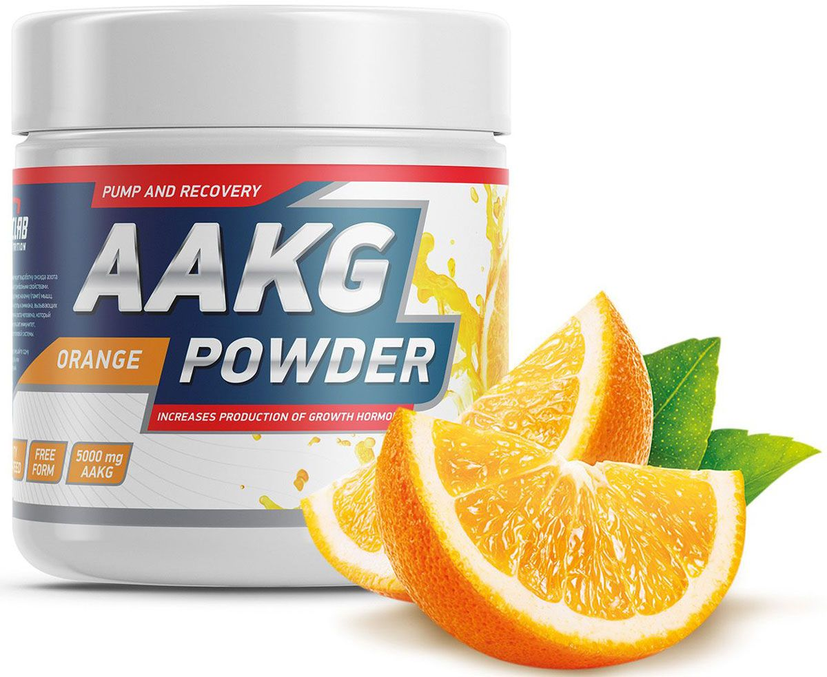 Аргинин Geneticlab  AAKG Powder , апельсин, 150 г - Аминокислоты