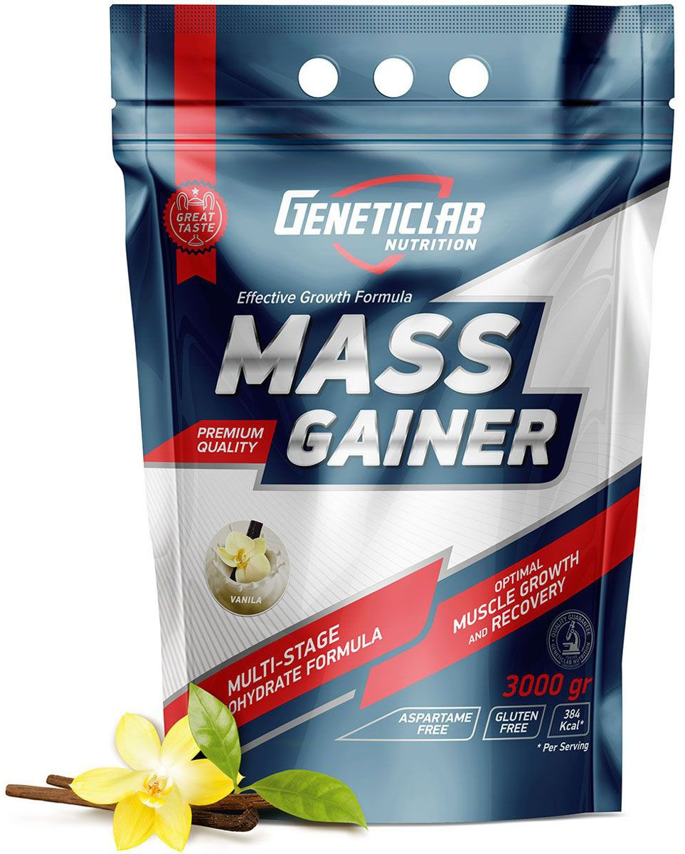 Гейнер Geneticlab Mass Gainer, ваниль, 3 кг