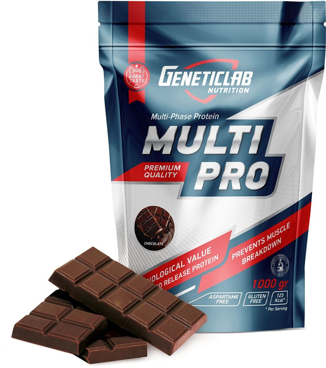 Протеин Geneticlab Multi Pro, шоколад, 1 кг гейнер geneticlab nutrition mass gainer шоколад 1000 г