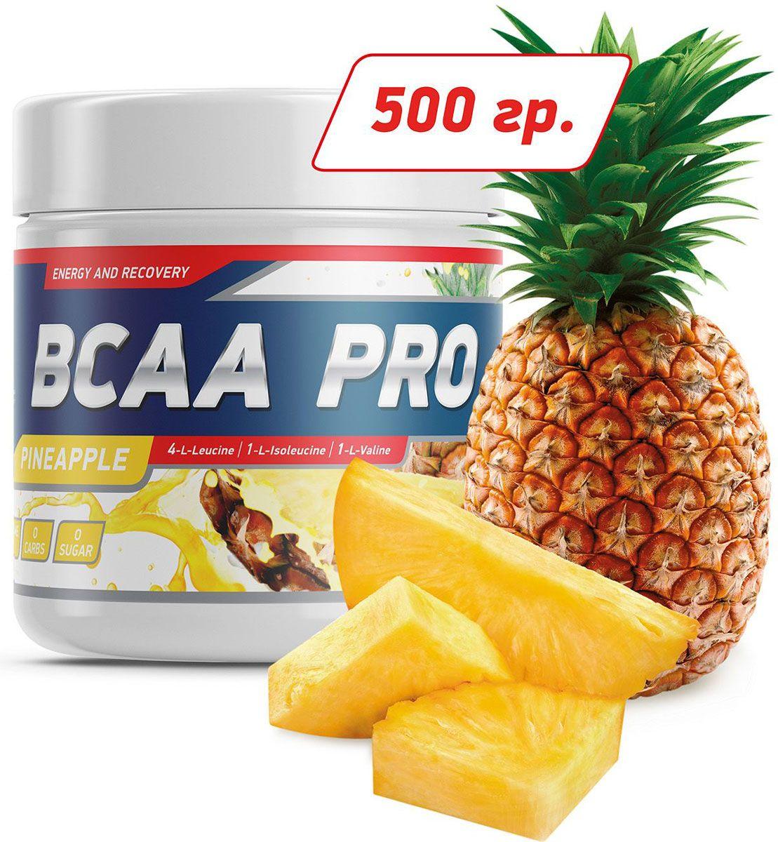 Аминокислоты Geneticlab BCAA Pro, ананас, 500 г аминокислоты geneticlab аминокислоты bcaa pro груша 500 гр