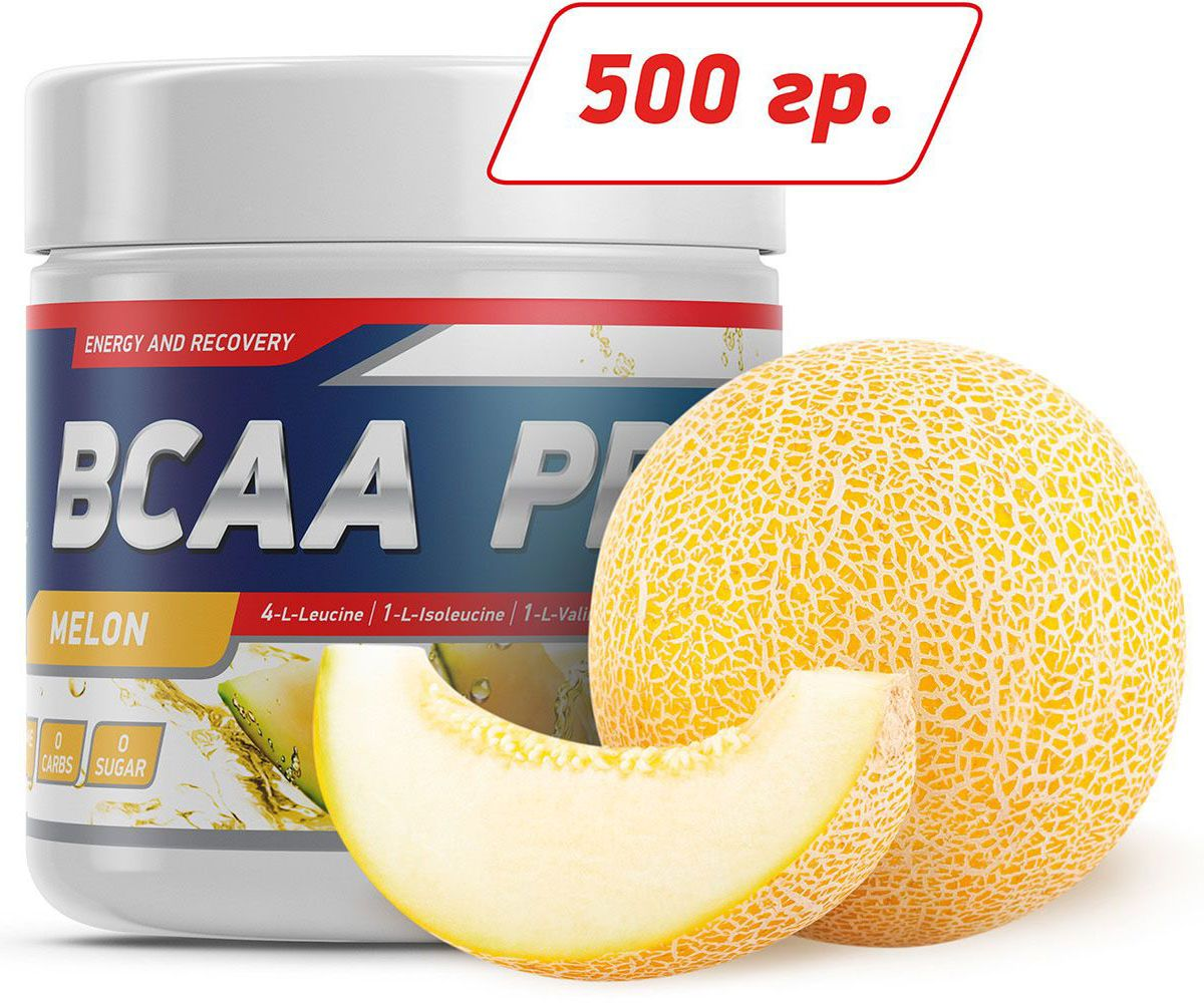 Аминокислоты Geneticlab BCAA Pro, дыня, 500 г аминокислотный комплекс vplab bcaa 2 1 1 красный апельсин 500 г