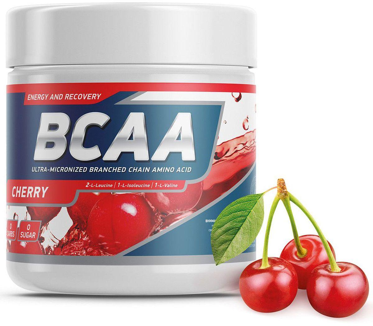 Аминокислоты Geneticlab BCAA 2:1:1, вишня, 250 г аминокислоты mychoice nutrition extra fit bcaa вишня 375 г