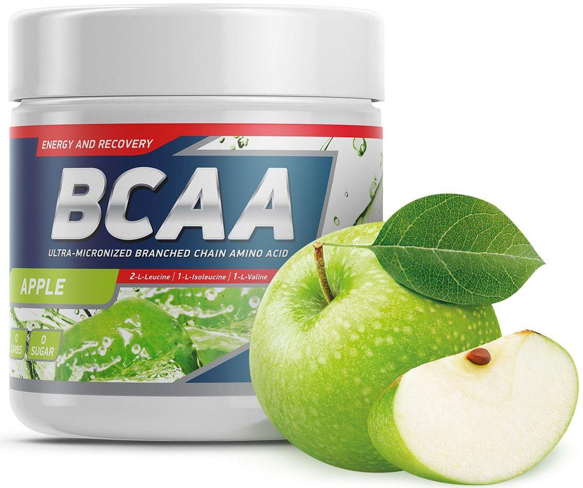Аминокислоты Geneticlab BCAA 2:1:1, яблоко, 250 г аминокислотный комплекс vplab bcaa 2 1 1 красный апельсин 500 г