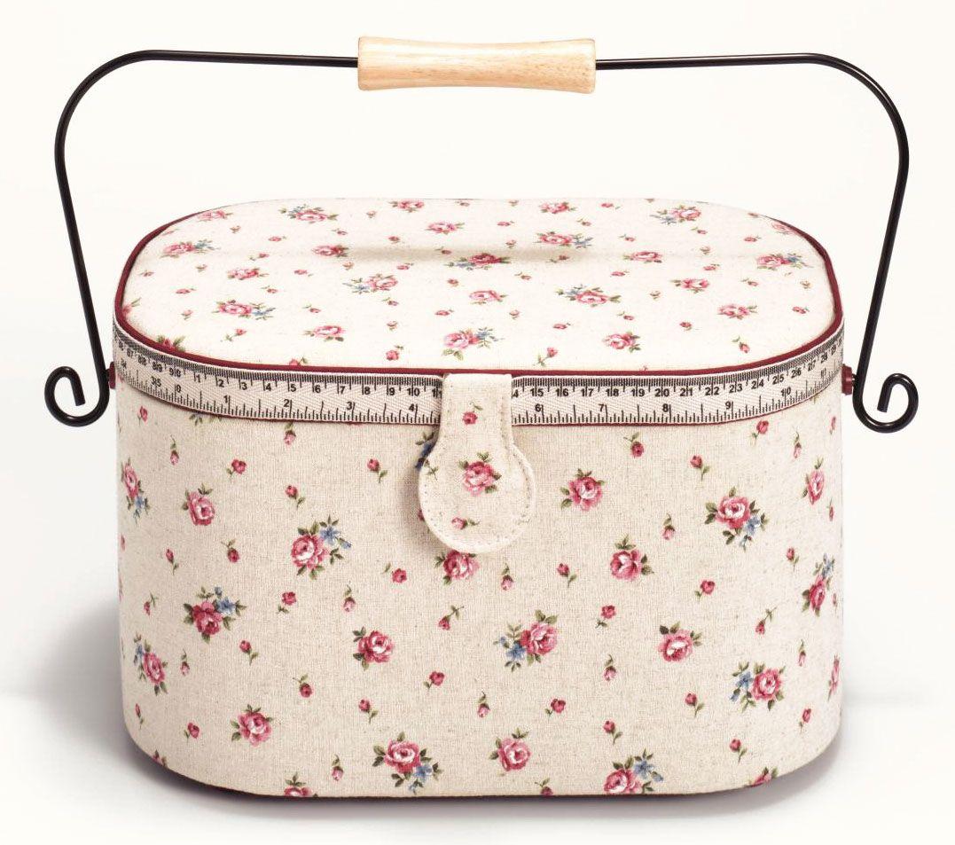 Шкатулка для рукоделия Prym Страна роз, цвет: бежевый, розовый, 30 х 20,5 х 19 см612141Шкатулка для рукоделия Prym Страна роз декорирована изображением цветов.Изящная шкатулка с ярким дизайном предназначена для хранения мелочей, принадлежностей для шитья и творчества и других аксессуаров. Она красиво оформит интерьер комнаты и поможет хранить ваши вещи в порядке.Размер шкатулки: 30 х 20,5 х 19 см.