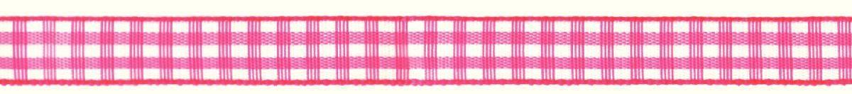 Лента декоративная Prym Клетка, цвет: белый, розовый, 10 мм, 4 м907301Лента для украшения, поделок, оформления и упаковки подарков