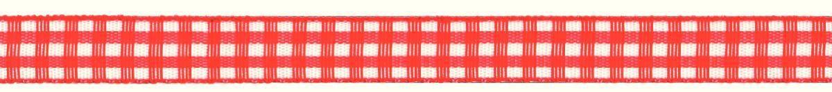 Лента декоративная Prym Клетка, цвет: белый, красный, 10 мм, 4 м907302Лента для украшения, поделок, оформления и упаковки подарков