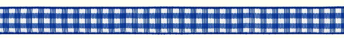 Лента декоративная Prym Клетка, цвет: белый, синий, 10 мм, 4 м907304Лента для украшения, поделок, оформления и упаковки подарков