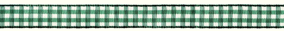 Лента декоративная Prym Клетка, цвет: белый, зеленый, 10 мм, 4 м907306Лента для украшения, поделок, оформления и упаковки подарков
