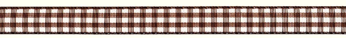 Лента декоративная Prym Клетка, цвет: белый, коричневый, 10 мм, 4 м907307Лента декоративная Prym Клетка подходит для украшения, поделок, оформления и упаковки подарков.Ширина: 10 мм. Длина: 4 м.