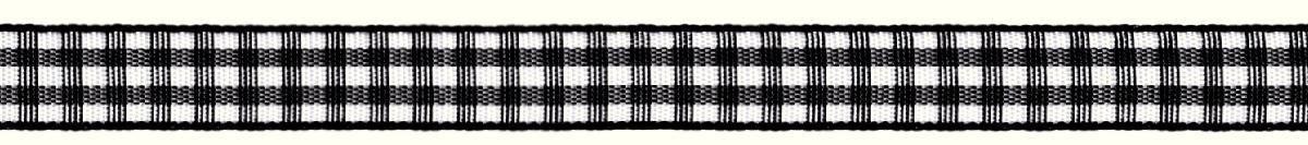 Лента декоративная Prym Клетка, цвет: белый, черный, 10 мм, 4 м