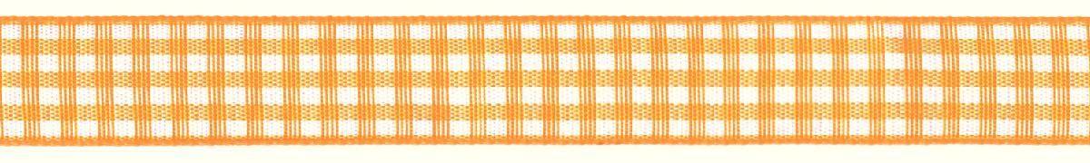 Лента декоративная Prym Клетка, цвет: белый, желтый, 15 мм, 3 м907350Лента для украшения, поделок, оформления и упаковки подарков