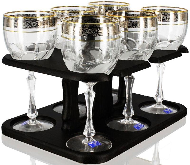 Набор фужеров для вина Гусь Хрустальный Флорис, 280 мл, 6 штTD32-27831-БСНабор Гусь-Хрустальный Флорис состоит из 6 фужеров на изящных длинных ножках, изготовленных из высококачественного натрий-кальций-силикатного стекла. Изделия предназначены для подачи холодных напитков, вина и многого другого. Фужеры оформлены красивым зеркальным покрытием с матовым орнаментом. Такой набор прекрасно дополнит праздничный стол и станет желанным подарком в любом доме. Разрешается мыть в посудомоечной машине.Высота фужера: 18 см. Объем: 280 мл.