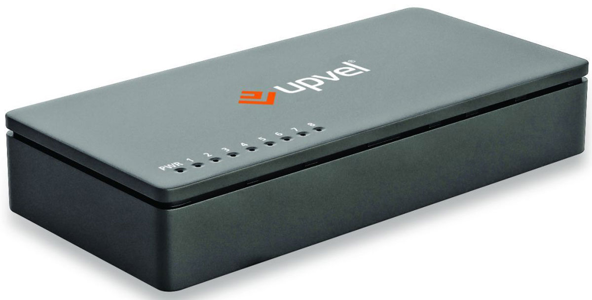 UPVEL US-8F, Black коммутаторUS-8F_BlackВосьми портовый коммутатор UPVEL US-8F позволяет объединить в одну сеть несколько компьютеров ипередавать данные со скоростью до 100 Мбит/с. Коммутатор поддерживает функцию Auto-MDIX, полудуплексный идуплексный режимы передачи данных и технологию Plug & Play.Стандарт: IEEE 802.3 10Base-T / IEEE 802.3u 100Base-TX / IEEE 802.3x Flow Control Кабели: Ethernet: категория 5, длина до 100 метров / Fast Ethernet: категория 5, 5e или 6, длина до 100 метров Скорость передачи данных: Ethernet: 10 / 20 Мбит/с (полудуплексный / дуплексный режим) /Fast Ethernet: 100 / 200Мбит/с (полудуплексный / дуплексный режим) Пропускная способность коммутационной матрицы: 1,6 Гбит/с Топология: Звезда Таблица коммутации: 2000 записей для каждого подключенного устройства Буферная память: 512 Кбайт для каждого подключенного устройства