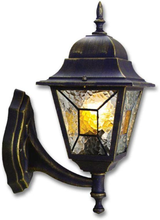 """Настенный садовый светильник Duwi """"Crespo"""" (бра вверх) в классическом стиле изготовлен из устойчивого к коррозии алюминиевого сплава и покрашен в черный цвет с золотым напылением. Фонарь выполнен из витражного стекла """"wave glass"""" с цветными элементами мозаики. Изделие обладает высокой степенью пыле- и влагозащищенности IP44. Задняя крышка снабжена уплотнителем, который надежно защищает электропроводку от внешних воздействий. Изделие имеет монтажный разъем для легкого и быстрого подключения. Возможность использования с любыми лампами, имеющими цоколь E27 (накаливания, энергосберегающими, светодиодными). Светильник работает от сети 220 В. Светильники Duwi """"Crespo"""" - идеальное решение для декоративного освещения летних домиков, беседок или садовых дорожек. Садово-парковые светильники под брендом DUWI изготавливаются в соответствии со строгими европейскими стандартами качества."""