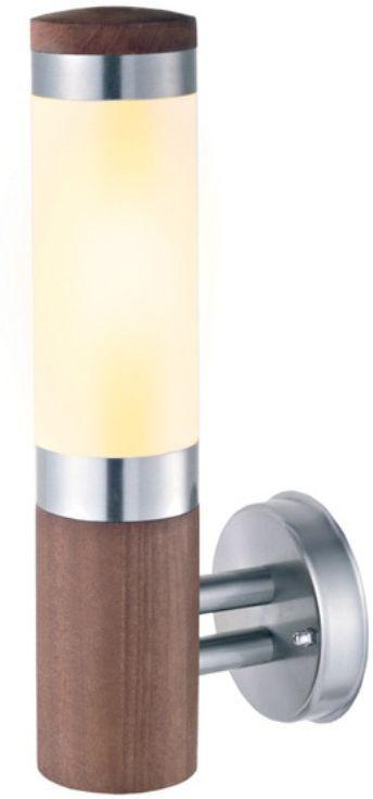 Светильник садовый настенный Duwi Stelo Wood, высота 360 мм. 24111 924111 9Настенный садовый светильник Duwi Stelo Wood добавит комфорта и тепла, ненавязчиво вписавшись в дизайн вашего участка. Корпус цилиндрической формы изготовлен из натурального дерева (тик) с металлическими элементами. Плафон выполнен из матового стекла.Задняя крышка снабжена уплотнителем, который надежно защищает электропроводку от внешних воздействий. Изделие имеет монтажный разъем для легкого и быстрого подключения. Возможность использования с любыми лампами, имеющими цоколь E27 (накаливания, энергосберегающими, светодиодными). Светильник работает от сети 220 В, обладает высокой степенью пыле- и влагозащищенности IP44. Светильники Duwi Stelo Wood - идеальное решение для декоративного освещения летних домиков, беседок или садовых дорожек. Садово-парковые светильники под брендом DUWI изготавливаются в соответствии со строгими европейскими стандартами качества.