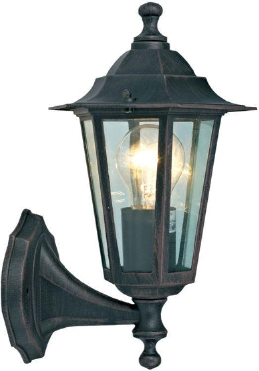 Светильник садовый настенный Duwi Southampton, высота 320 мм. 25630 425630 4Настенный садовый светильник Duwi Southampton (бра вверх) выполнен в строгом английском стиле и отличается гармоничными пропорциями. Темно-коричневый шестигранный корпус изготовлен из высококачественного алюминиевого сплава, устойчивого к коррозии, стекло фонаря прозрачное. Задняя крышка снабжена уплотнителем, который надежно защищает электропроводку от внешних воздействий. Изделие имеет монтажный разъем для легкого и быстрого подключения. Возможность использования с любыми лампами, имеющими цоколь E27 (накаливания, энергосберегающими, светодиодными). Светильник работает от сети 220 В, обладает высокой степенью пыле- и влагозащищенности IP44. Светильники Duwi Southampton - идеальное решение для декоративного освещения летних домиков, беседок или садовых дорожек. Садово-парковые светильники под брендом DUWI изготавливаются в соответствии со строгими европейскими стандартами качества.