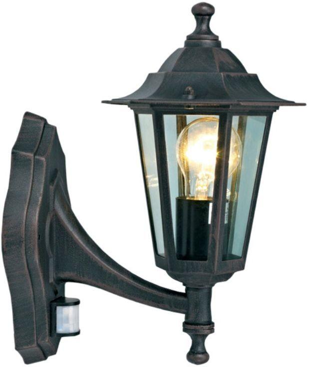 """Настенный садовый светильник Duwi """"Southampton"""" (бра вверх) выполнен в строгом английском стиле и отличается гармоничными пропорциями. Темно-коричневый шестигранный корпус изготовлен из высококачественного алюминиевого сплава, устойчивого к коррозии, стекло фонаря прозрачное. Светильник оборудован датчиком движения с дальностью действия 12 метров и углом охвата 120°.Задняя крышка снабжена уплотнителем, который надежно защищает электропроводку от внешних воздействий. Изделие имеет монтажный разъем для легкого и быстрого подключения. Возможность использования с любыми лампами, имеющими цоколь E27 (накаливания, энергосберегающими, светодиодными). Светильник работает от сети 220 В, обладает высокой степенью пыле- и влагозащищенности IP44. Светильники Duwi """"Southampton"""" - идеальное решение для декоративного освещения летних домиков, беседок или садовых дорожек. Садово-парковые светильники под брендом DUWI изготавливаются в соответствии со строгими европейскими стандартами качества."""