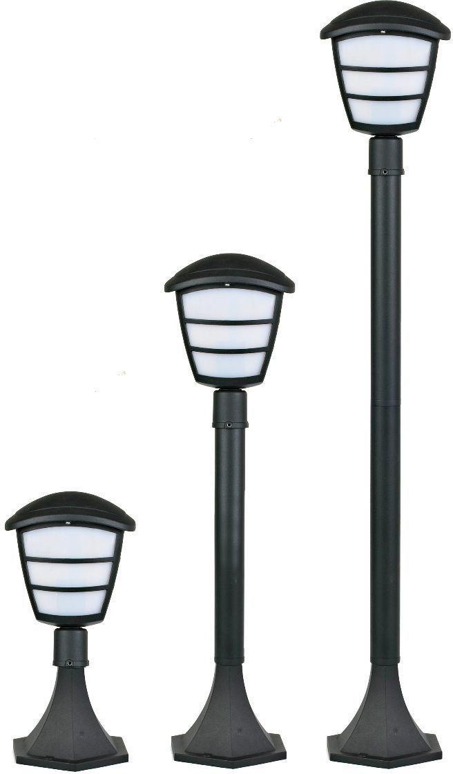 Светильник садовый Duwi Wien, 345-650-1000 мм. 28914 228914 2Наземный садовый светильник Duwi Wien изготовлен из устойчивого к коррозии литого алюминия и снабжен рассеивателем из пластика молочного цвета. Изделие обладает высокой степенью пыле- и влагозащищенности IP44. Отличительная особенность - возможность сборки в трех размерах: 345/650/1000 мм. Задняя крышка снабжена уплотнителем, который надежно защищает электропроводку от внешних воздействий. Изделие снабжено монтажным разъемом для легкого и быстрого подключения. Возможность использования с любыми лампами, имеющими цоколь E27 (накаливания, энергосберегающими, светодиодными). Светильник работает от сети 220 В. Светильники Duwi - идеальное решение для декоративного освещения летних домиков, беседок или садовых дорожек. Крепления, влагозащитные заглушки и кольца в комплекте.