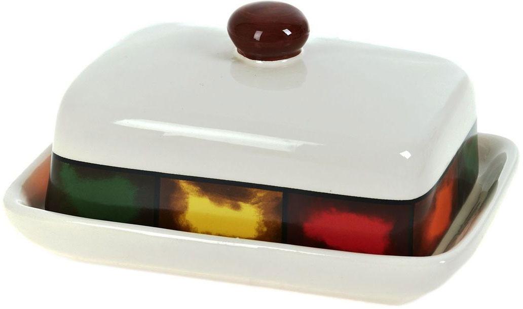 Масленка ENS Group Мармелад, 18,5 х 13,5 х 9 см0050019Масленка Мармелад выполнена из высококачественной керамики в виде подноса с крышкой. Изделие оформлено яркой разноцветной полосой и имеет изысканный внешний вид. Масленка предназначена для красивой сервировки стола и хранения масла.