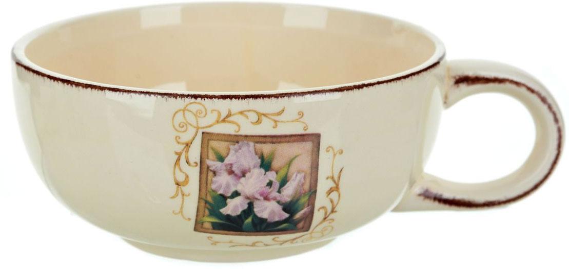 Чашка суповая ENS Group Розовый ирис, 500 мл сахарница ens group розовый ирис 450 мл
