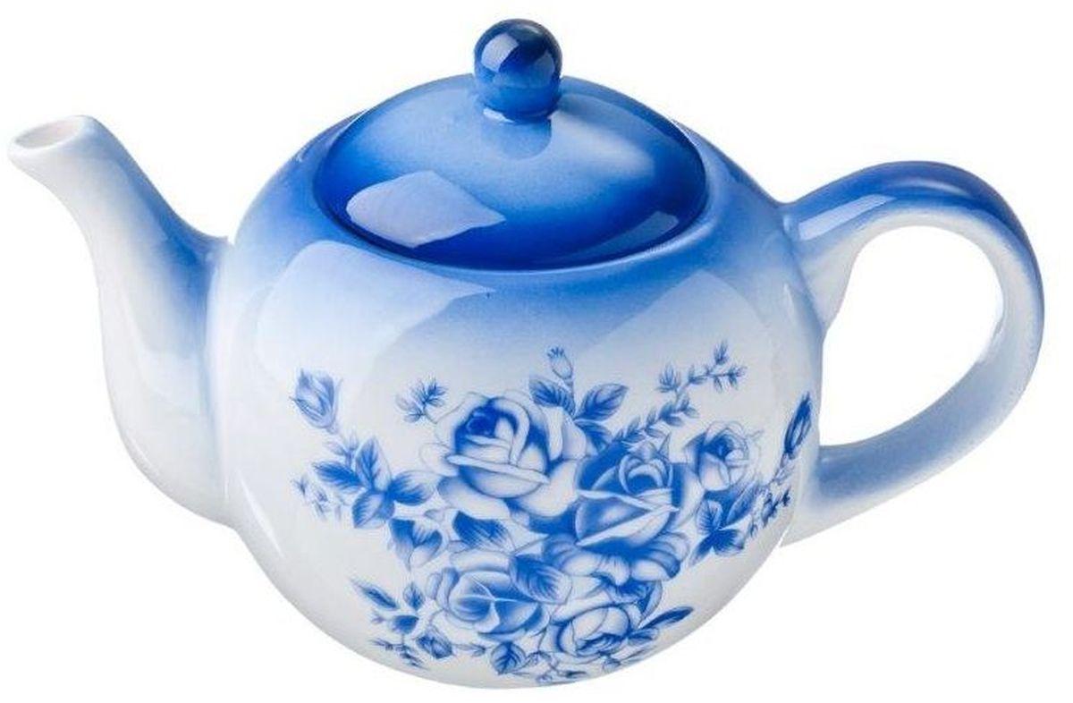 Чайник заварочный Vetta Народные мотивы, 580 мл824725Заварочный чайник Vetta Народные мотивы изготовлен из высококачественной керамики. Изделие прекрасно подходит для заваривания вкусного и ароматного чая, а также травяных настоев. Отверстия в основании носика препятствуют попаданию чаинок в чашку. Яркий дизайн сделает чайник настоящим украшением стола.