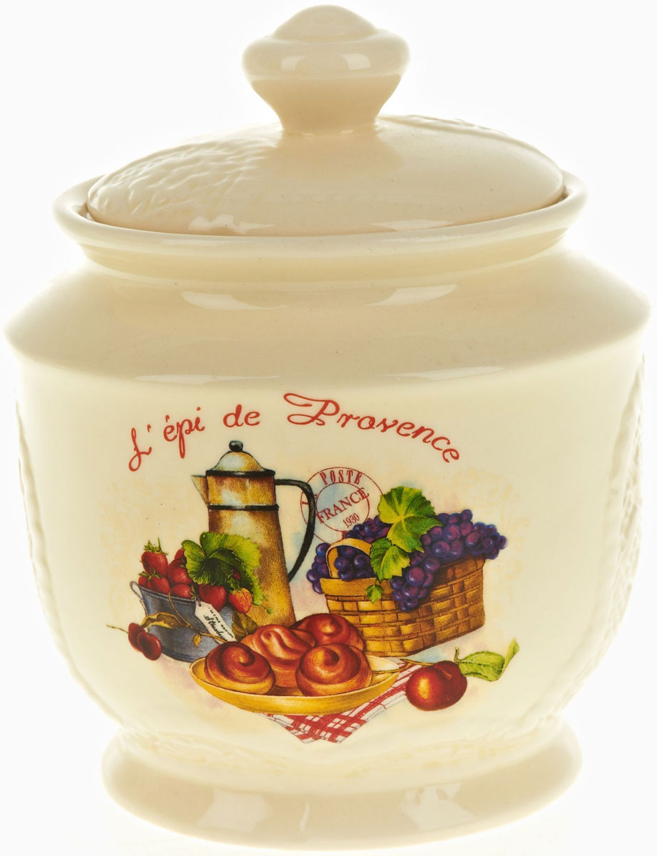 Банка для сыпучих продуктов Polystar French Breakfast, 720 млL0200159Банка для сыпучих продуктов French breakfast изготовлена из прочной керамики, закрывается крышкой. Банка оригинальной формы, прекрасно подойдет для хранения различных сыпучих продуктов: чая, кофе, сахара, круп и многого другого. Изящная емкость не только поможет хранить разнообразные сыпучие продукты, но и стильно дополнит интерьер кухни.