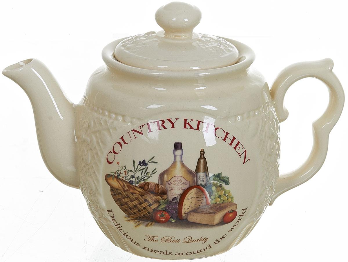 Чайник заварочный Polystar Country Kitchen, 1 л824786Заварочный чайник Country Kitchen изготовлен из высококачественной керамики. Изделие прекрасно подходит для заваривания вкусного и ароматного чая, а также травяных настоев. Уютный дизайн сделает чайник настоящим украшением стола. Объем: 1 л.