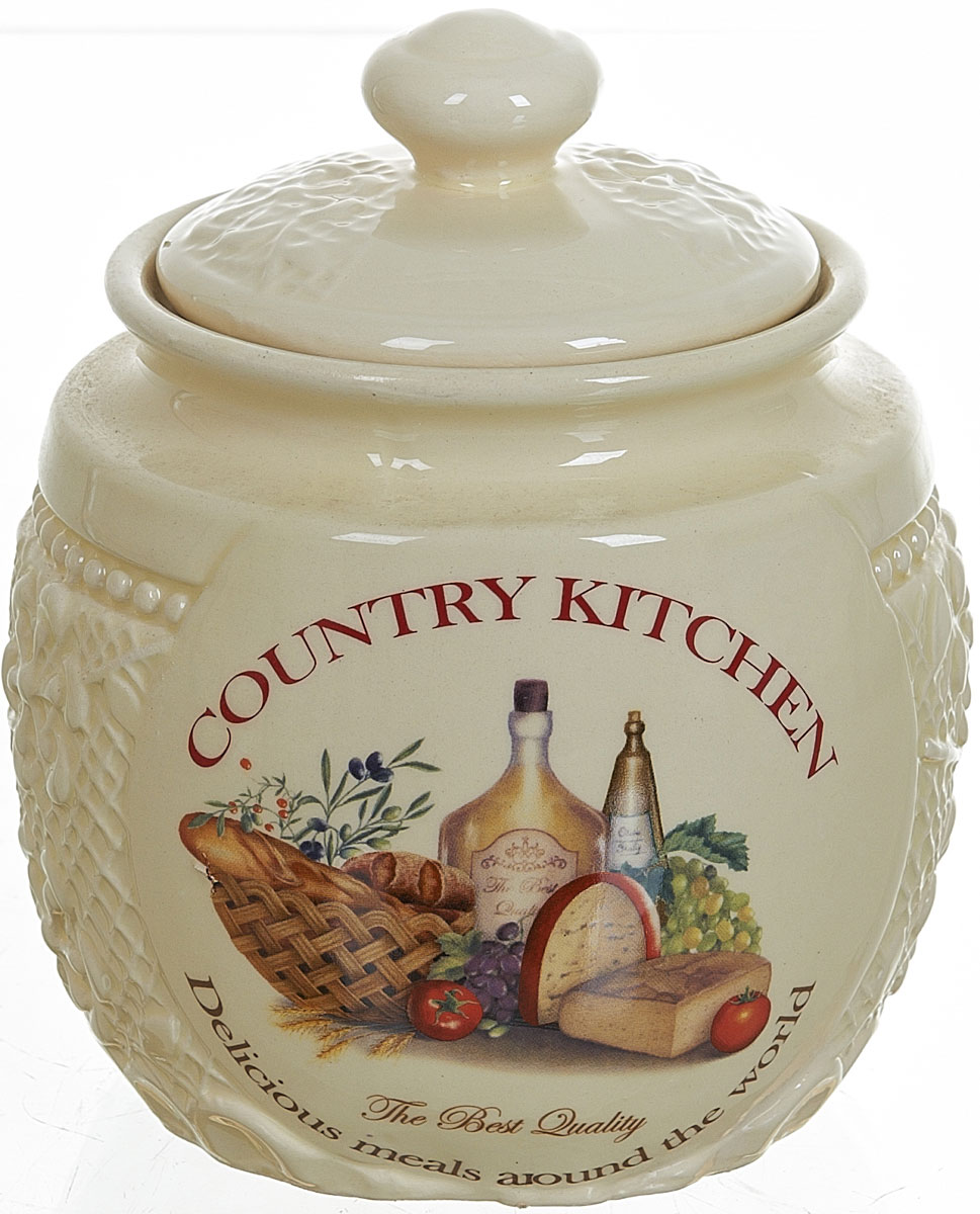 Банка для сыпучих продуктов Polystar Country Kitchen, 720 мл банка для сыпучих продуктов polystar country kitchen 720 мл