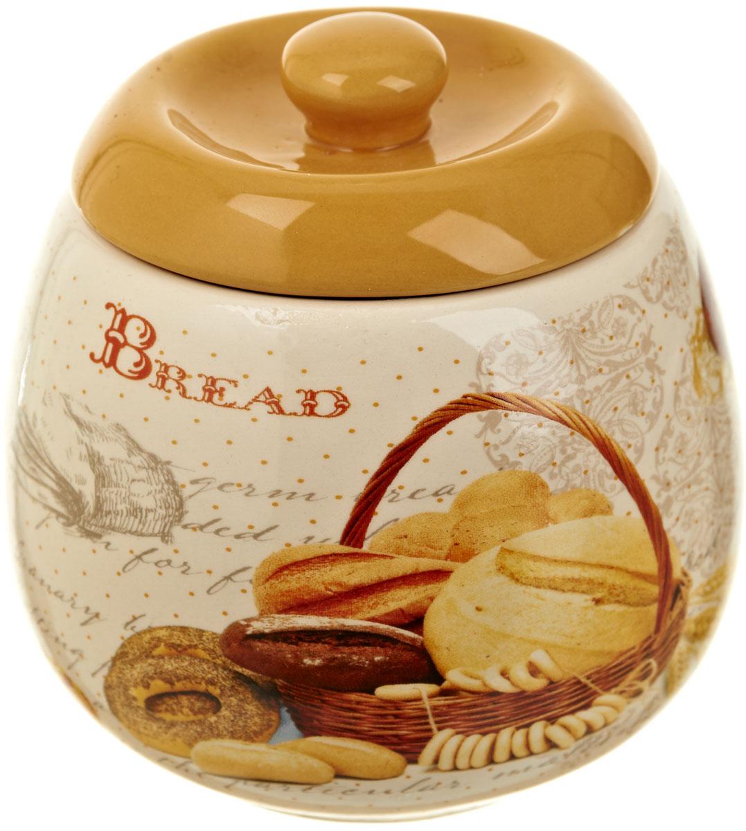 Сахарница Polystar Хлеб, 500 млL1581896Сахарница Хлеб с крышкой изготовлена из высококачественной керамики и декорирована оригинальным рисунком. Емкость универсальна, подойдет как для сахара, так и для меда.Объем: 500 мл.