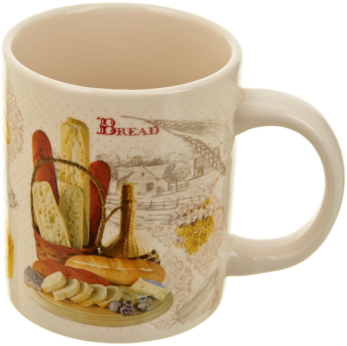 """Кружка """"Хлеб"""", выполненная из высококачественной керамики, украшена рисунком. Изделие оснащено удобной ручкой. Кружка сочетает в себе оригинальный дизайн и функциональность. Благодаря такой кружке пить напитки будет еще вкуснее."""