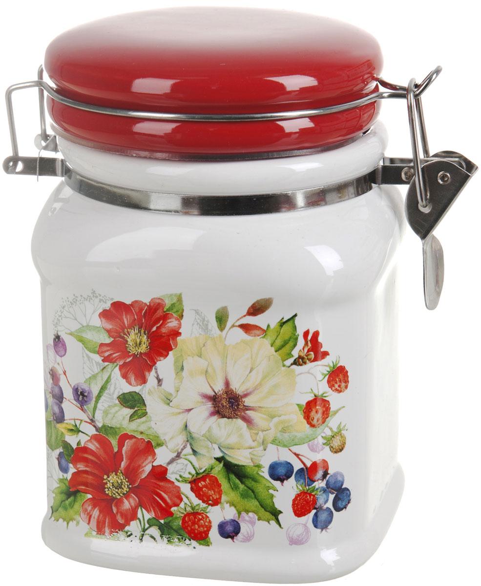 Банка для сыпучих продуктов Polystar Summer, 650 мл банка для сыпучих продуктов polystar sweet home 850 мл