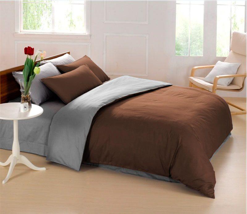 Комплект белья Sleep iX Perfection, 1,5-спальный, наволочки 50х70, 70х70, цвет: темно-коричневый, серый. pva215351pva215351Комплект белья Sleep iX Perfection выполнен из микрофреша (100% микрофибра). Микрофреш - это легкая, нежная и неприхотливая в уходе ткань.Комплект белья Sleep iX Perfection станет прекрасным подарком для родных и близких, отлично впишется в любой интерьер спальни.Размер пододеяльника: 150 х 220 см.Тип застежки на пододеяльнике: молния (100 см).Размер простыни: 160 х 220 см.Размер наволочек: 50 х 70 см (1 шт) и 70 х 70 см (1 шт).