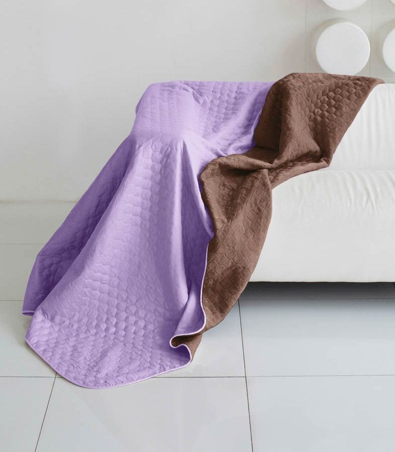 Комплект для спальни Sleep iX Multi Set, 2-спальный, цвет: фиолетовый, коричневый, 6 предметов. pva221604pva221604Комплект для спальни Sleep iX Multi Set состоит из покрывала, простыни, 2 наволочек и 2 подушек. Верх многофункционального одеяла-покрывала выполнен из мягкой микрофибры, которая хорошо сохраняет тепло, устойчива к стирке и износу, а низ выполнен изискусственного меха. Этот мех не требует специального ухода, он легко чистится и долгое время сохраняет мягкость и внешний вид. Наволочки, простыня и чехлы подушек выполнены из микрофибры. Комплект для спальни Sleep iX Multi Set - это прекрасный способ придать спальне уют и привнести в интерьер что-то новое.Размер одеяла-покрывала: 180 х 220 см.Размер простыни: 230 х 240 см.Размер наволочек: 50 х 70 см. (2 шт)Размер подушек: 50 х 68 см. (2 шт)Наполнитель: Силиконизированное волокно.