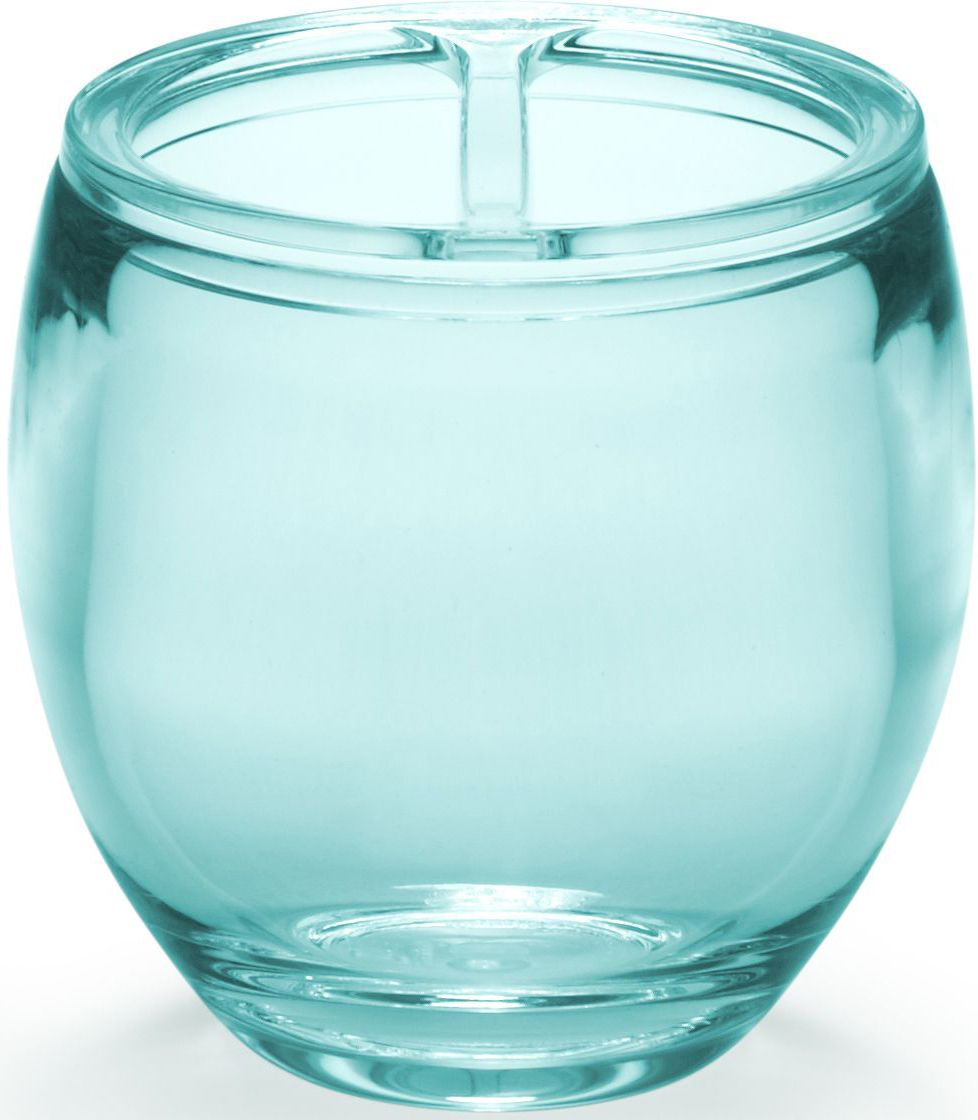 Стакан для зубных щеток Umbra Droplet, цвет: морская волна, 10 х 9 х 9 см стакан для ванной umbra touch цвет серый 10 х 7 х 7 см