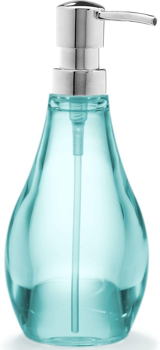 Диспенсер для мыла Umbra Droplet, цвет: морская волна, 19 х 9 х 9 см020163-276Мыло душистое, полотенце пушистое - если мыть руки, то с этим слоганом. Потому что приятно пахнущее мыло, например, ванильное или земляничное, поднимает настроение. А если оно внутри красивого диспенсера, который поможет отмерить нужное количество, это вдвойне приятно. Те, кто покупает жидкое мыло, знают, что очень часто оно продается в некрасивых упаковках или очень больших бутылках, которые совершенно неудобно ставить на раковину. Проблема решена вот с таким лаконичным симпатичным диспенсером. Теперь вы не забудете вымыть руки перед едой! А благодаря прозрачным стенкам, всегда видно, когда стоит пополнить резервуар. P.S. (Важная подсказка): диспенсер также можно использовать на кухне для моющего средства, получается очень экономно.
