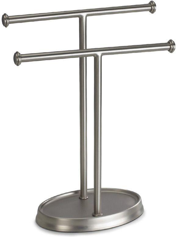 Держатель для полотенец Umbra Palm, цвет: никель, 27 х 13 х 10 см021019-410Элегантный держатель для двух полотенец дополнит ванную, туалетную комнату или кухню. Размеры: 13 х 27 х 10 см