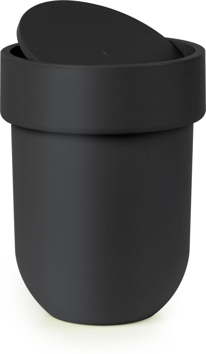 Контейнер мусорный Umbra Touch, с крышкой, цвет: черный, 25,4 х 19 х 19 см023269-040Лаконичный и простой контейнер из полипропилена. Оснащен удобной крышкой, которая аккуратно скрывает мусор.Размеры: 19,5 х 19,5 х 30 см