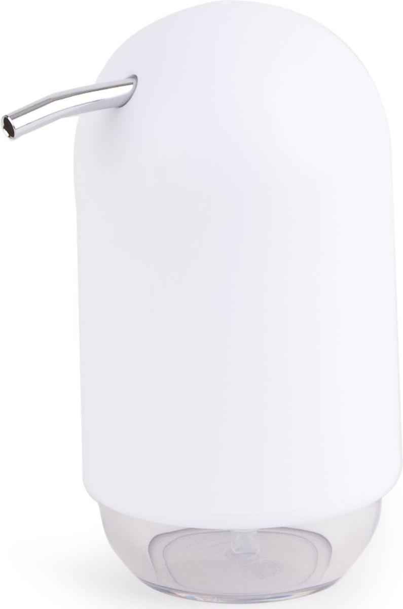 Диспенсер для мыла Umbra Touch, цвет: белый, 14 х 9 х 7 см023273-660Те, кто покупает жидкое мыло, знают, что очень часто оно продается в некрасивых упаковках или очень больших бутылках, которые совершенно неудобно ставить на раковину. Проблема решена вот с таким лаконичным симпатичным диспенсером Umbra Touch.Теперь вы не забудете вымыть руки перед едой! Обратите внимание на прозрачную нижнюю часть: благодаря ей вы сразу увидите, если мыло кончается, и сможете пополнить резервуар. Объем - 235 мл. Диспенсер также можно использовать на кухне для моющего средства, получается очень экономно.