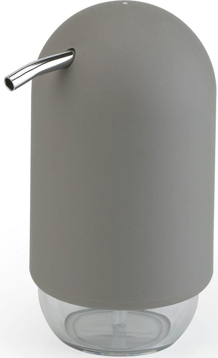 Диспенсер для мыла Umbra Touch, цвет: серый, 14 х 7 х 7 см023273-918Те, кто покупает жидкое мыло, знают, что очень часто оно продается в некрасивых упаковках или очень больших бутылках, которые совершенно неудобно ставить на раковину. Проблема решена вот с таким лаконичным симпатичным диспенсером Umbra Touch.Теперь вы не забудете вымыть руки перед едой! Обратите внимание на прозрачную нижнюю часть: благодаря ей вы сразу увидите, если мыло кончается, и сможете пополнить резервуар. Объем - 235 мл. Диспенсер также можно использовать на кухне для моющего средства, получается очень экономно.