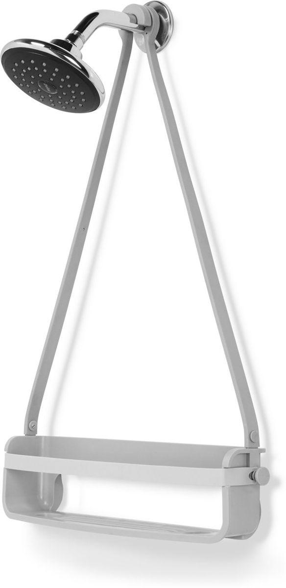 Органайзер для душа Umbra Flex Single, цвет: серый, 61 х 41,3 х 1,2 см023475-918Уменьшенный вариант органайзера для душа FLEX. Этот органайзер состоит из одной полочки и 2 крючков по бокам. Может использоваться отдельно или в комплекте со стандарным FLEXом. Благодаря креплениям может устанавливаться на стойку для душа или дверь душевой кабины. Не подвержен ржавчине! Благодаря эластичным перемычкам удержит даже самые большие бутылки с гелями и шампунями. Отверстия в полочках не дадут воде застаиваться. Размеры:41,3 х 61 х 1,2 см