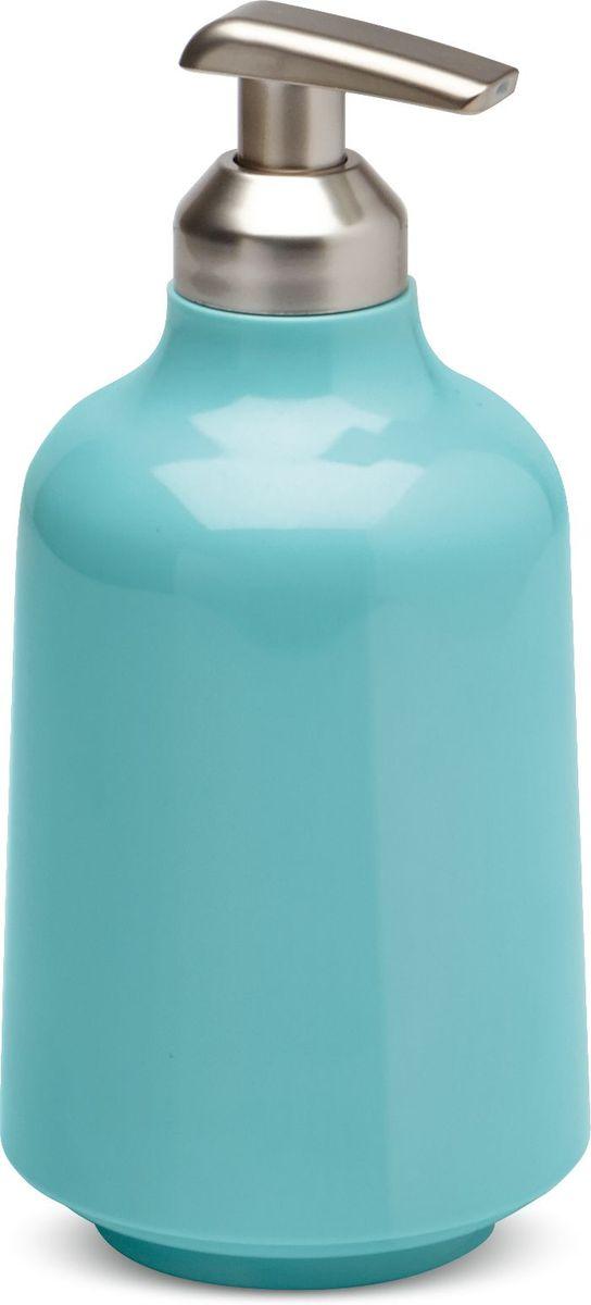 Диспенсер для жидкого мыла Umbra Step, цвет: морская волна, 19 х 8,3 х 8,3 см диспенсер для жидкого мыла umbra penguin цвет черный 19 х 6 х 6 см