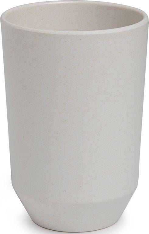 Стакан для ванной Umbra Fiboo, цвет: экрю, 10,5 х 8,1 х 8,1 см стакан для ванной umbra touch цвет серый 10 х 7 х 7 см