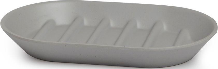 Мыльница Umbra Fiboo, цвет: серый, 1,9 х 14,9 х 9,4 см023873-918Мыльница Umbra Fiboo практичная вещь для ванной комнаты. Мыльница изготовлена из комбинированного материала (меламин и бамбуковое волокно), который отличает экологичность, износостойкость и уникальный матовый эффект. Ребристая поверхность позволит мылу быстро высохнуть.Дизайн: Wesley Chau.