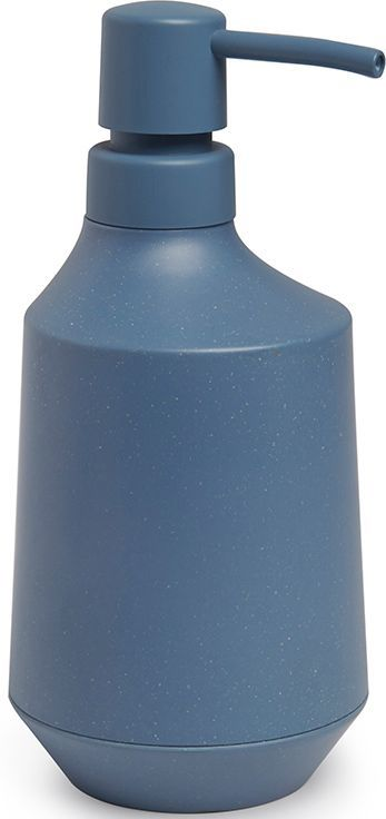 Диспенсер для мыла Umbra Fiboo, цвет: дымчато-синий, 18,4 х 8,3 х 10,3 см диспенсер для жидкого мыла umbra penguin цвет черный 19 х 6 х 6 см