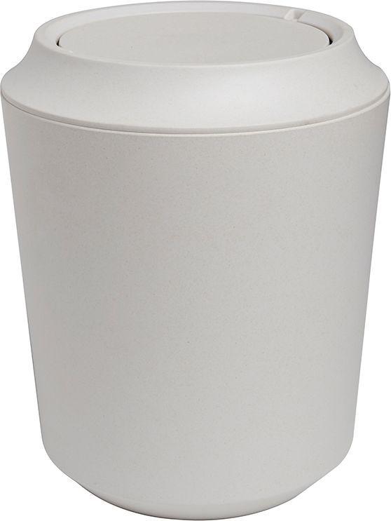 Корзина для мусора Umbra Fiboo, цвет: экрю, 24,9 х 20,3 х 20,3 см023875-354Корзина для мусора из комбинированного материала (меламин и бамбуковое волокно), который отличает экологичность, износостойкость и уникальный матовый эффект. Удобная вращающаяся крышка легко снимается для смены пакета для мусора.Дизайн: Wesley Chau